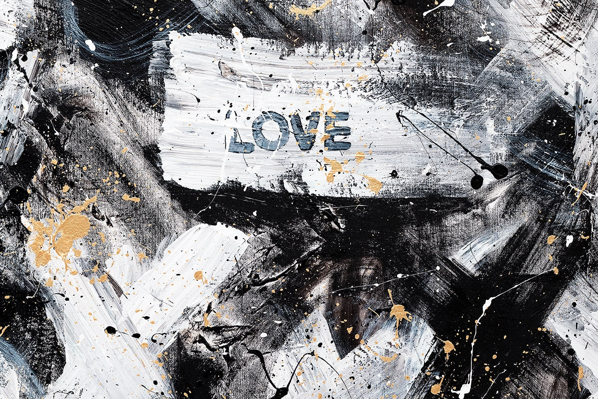 Love Is Love Abstract Art Painting Close Up