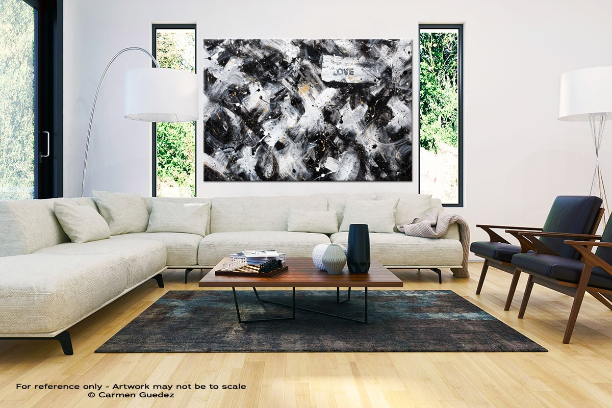 Love Is Love Large Oversized Abstract Canvas Painting Id23