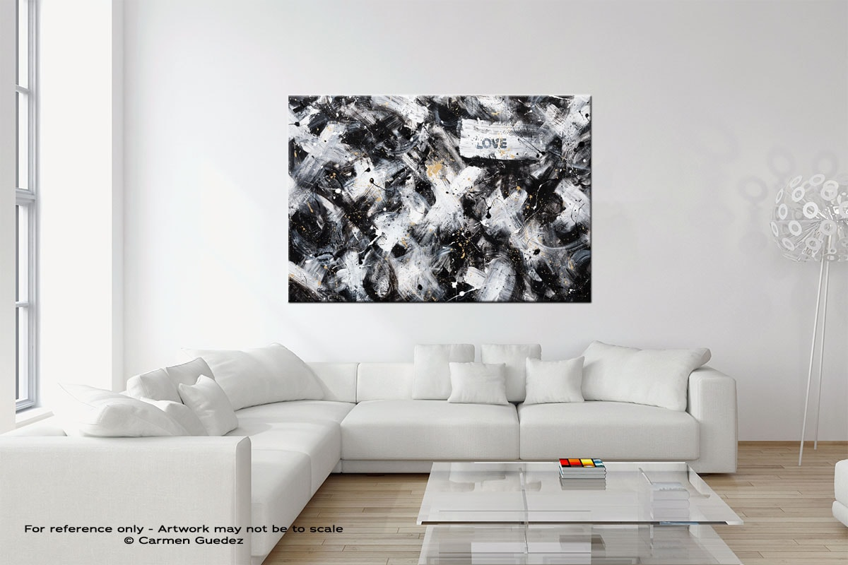 Love Is Love Wall Art Canvas Painting Neutral Room Id27