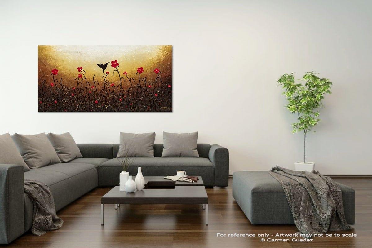 Lovely Bird Acrylic Gray Wall Art Painting Id34