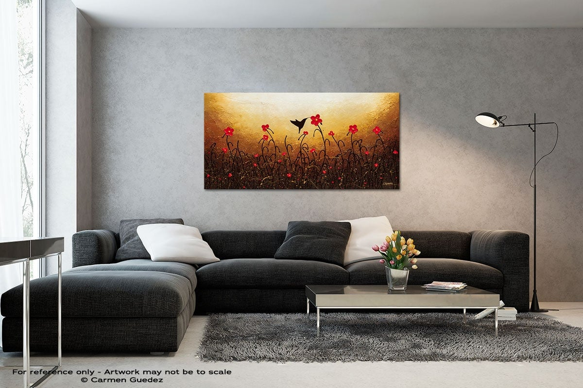 Lovely Bird Black And White Wall Abstract Art Painting Id70