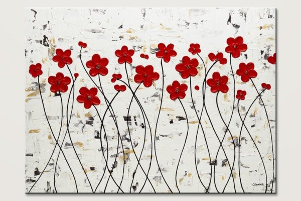 Mis Amores Modern Flower Art Painting Id80