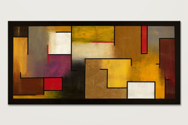 Mistaken Identity Geometric Wall Art On Canvas Id80