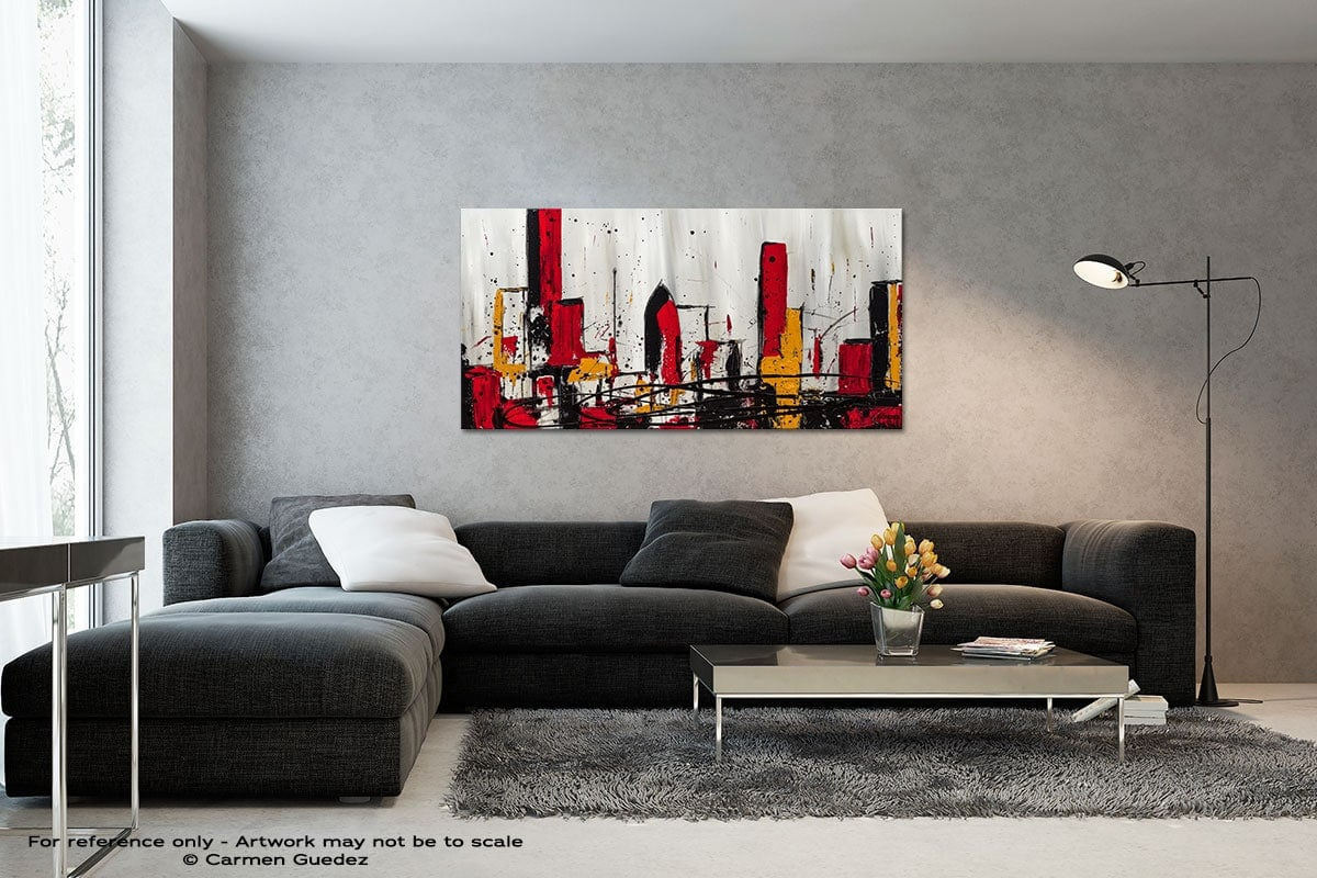 Modern City Black And White Wall Abstract Art Painting Id70