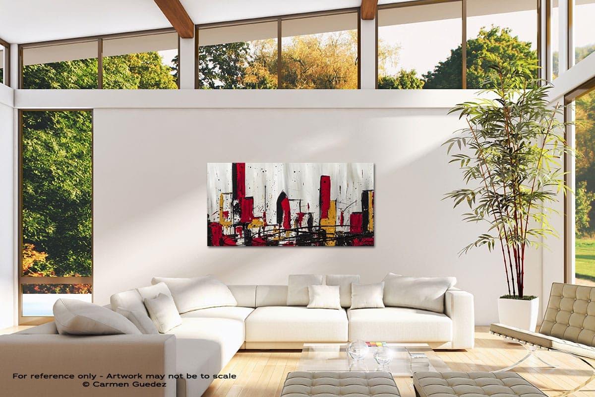 Modern City Modern Canvas Abstract Art Id38