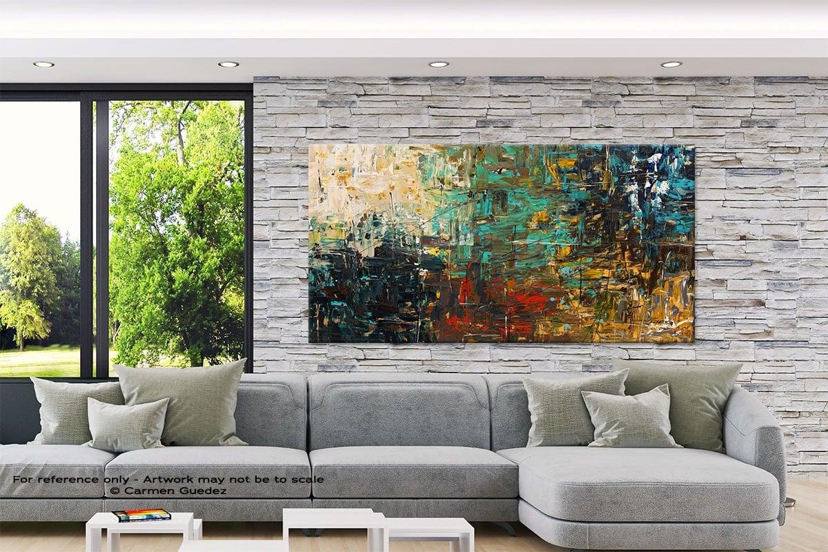 Modern Extra Large Painting Interior Design Id7 City Life