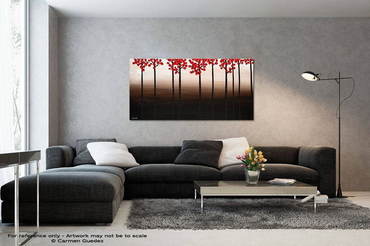 Modern Landscape Black And White Wall Abstract Art Painting Id70