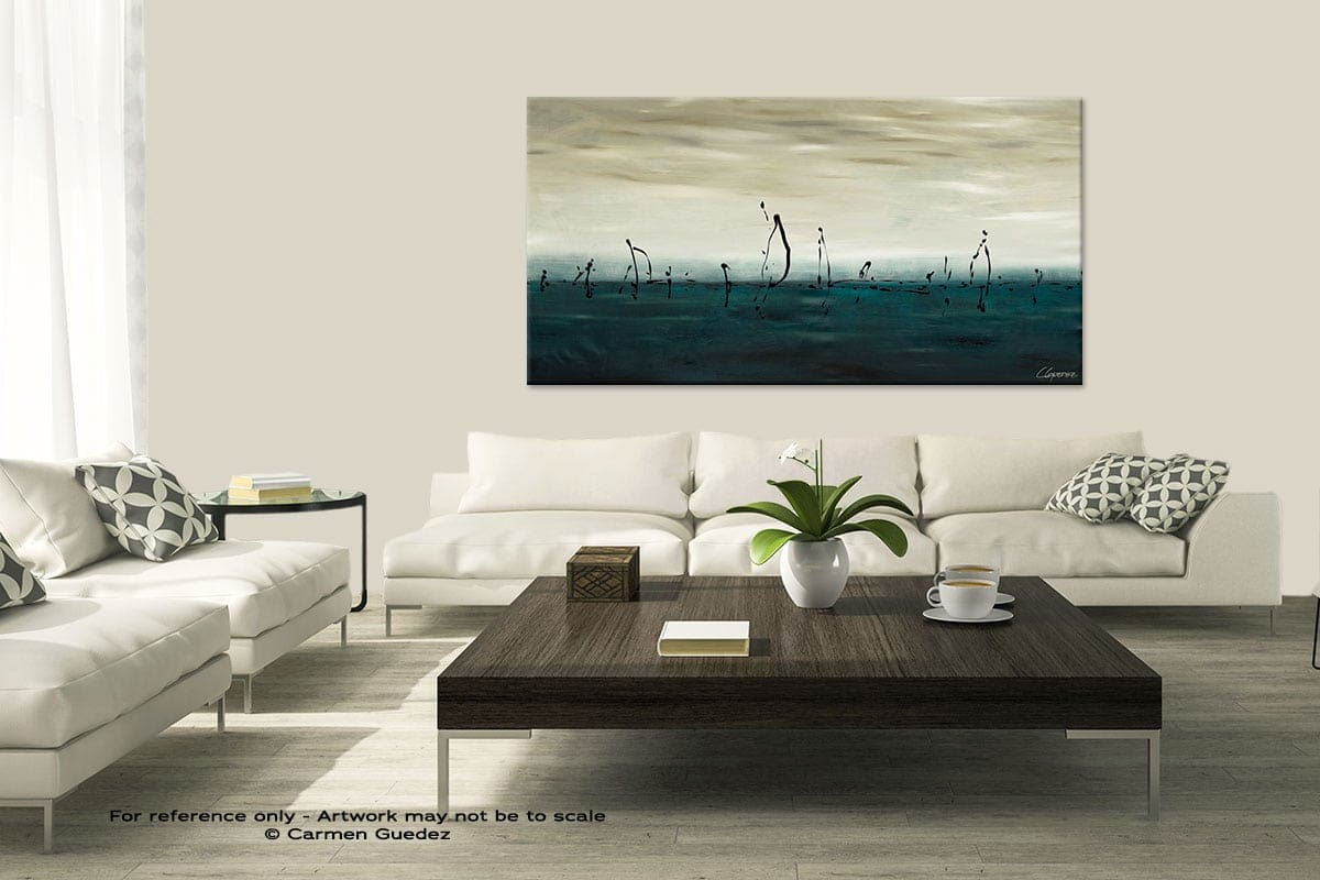 Modern Large Abstract Art Painting Id8 Sailing