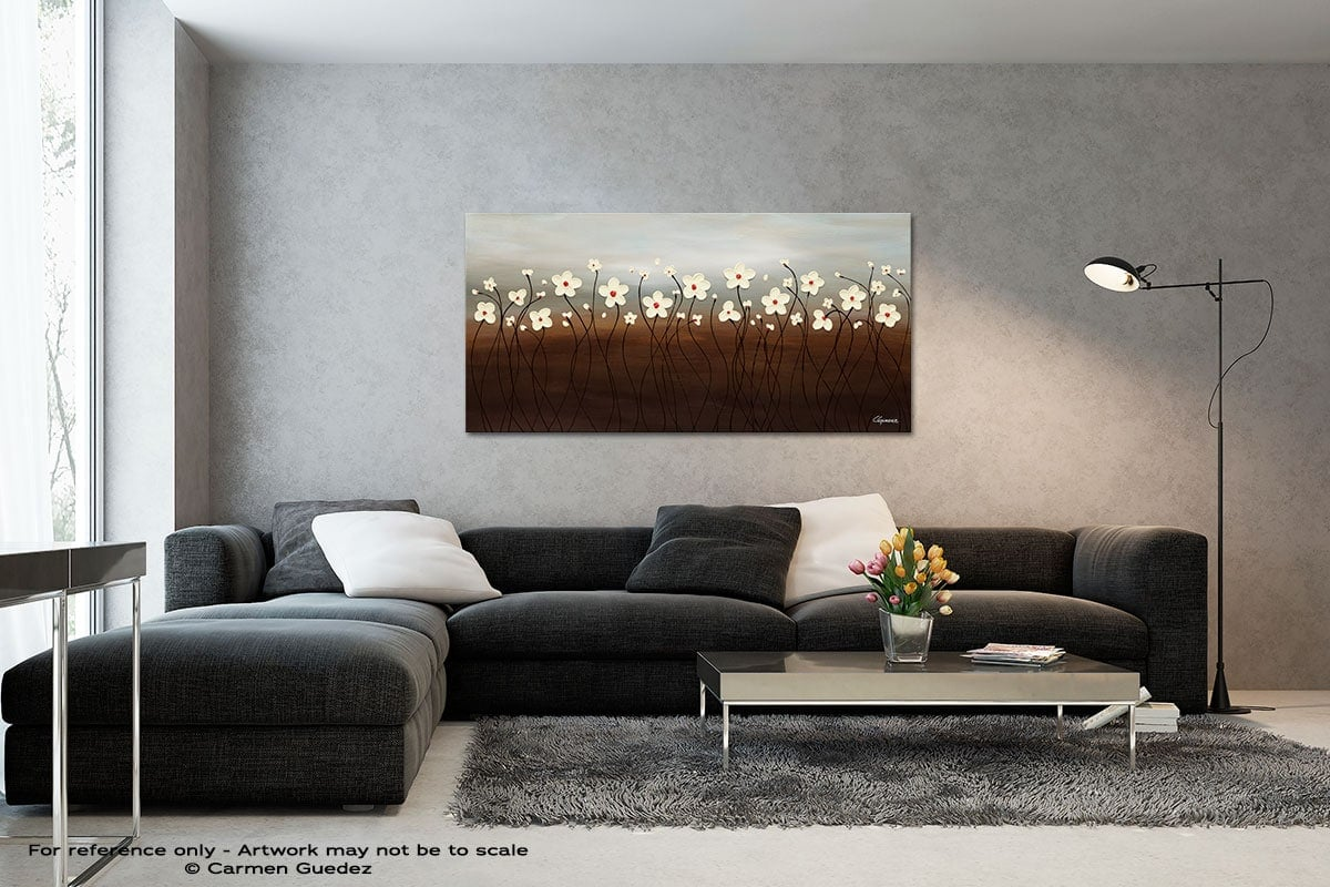 Morning Haze Black And White Wall Abstract Art Painting Id70