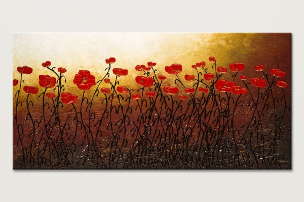 Morning Hopes Floral Abstract Canvas Art Id80