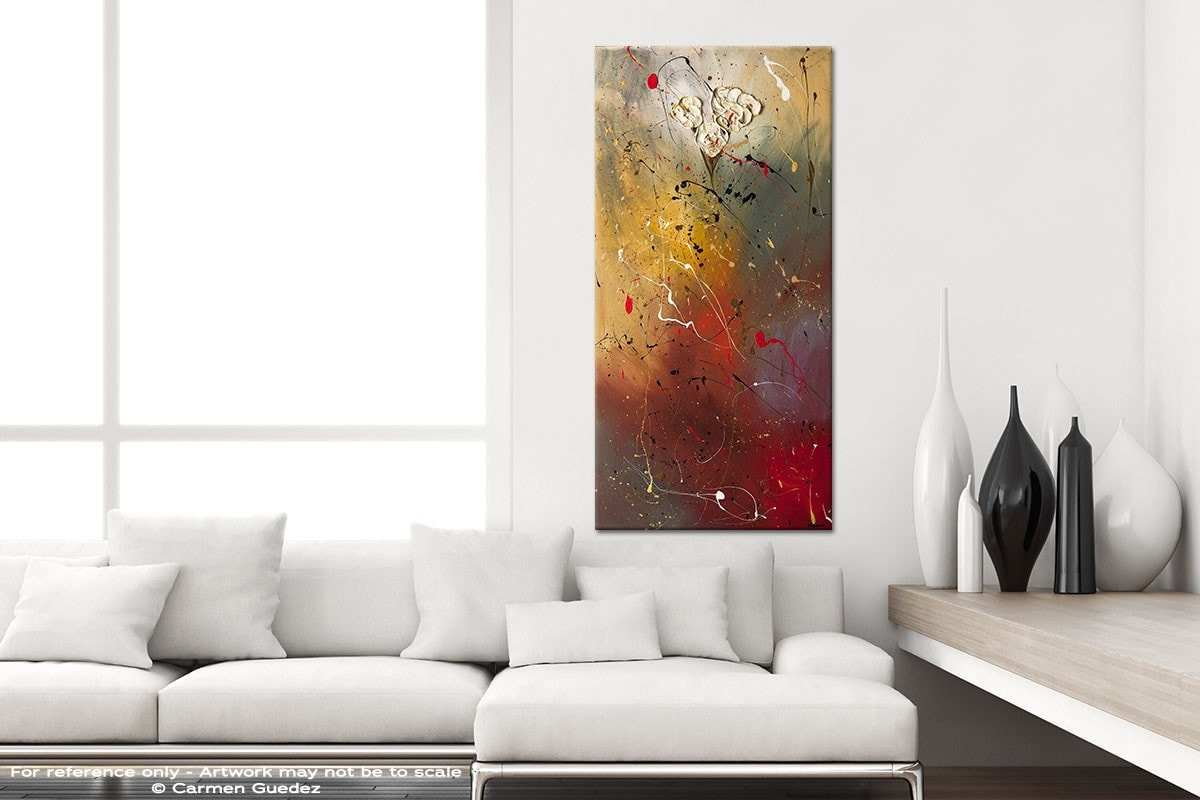 Morning Light Vertical Abstract Art Canvas Painting Id44