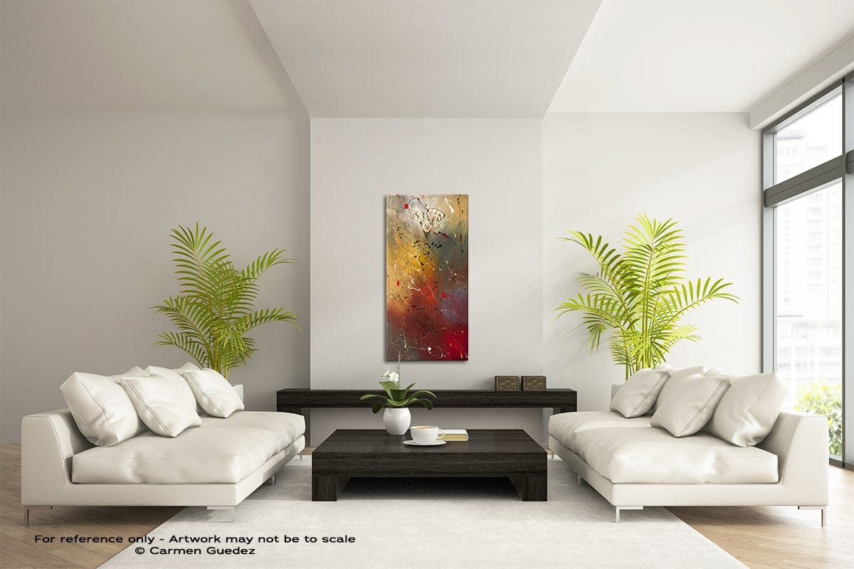 Morning Light Vertical Abstract Art Painting Id43