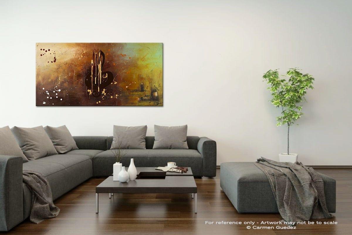 Music All Around Us Acrylic Gray Wall Art Painting Id34