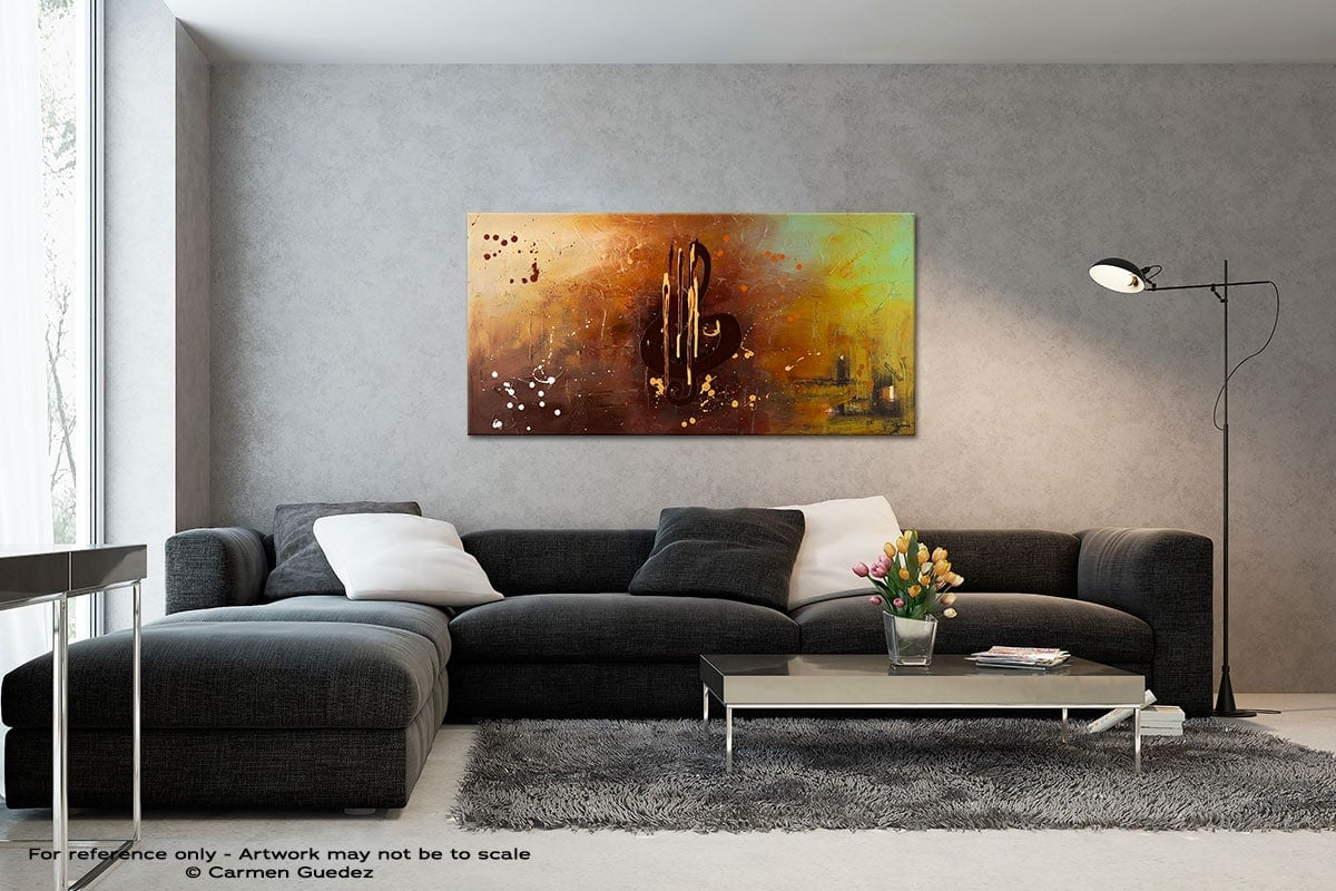 Music All Around Us Black And White Wall Abstract Art Painting Id70