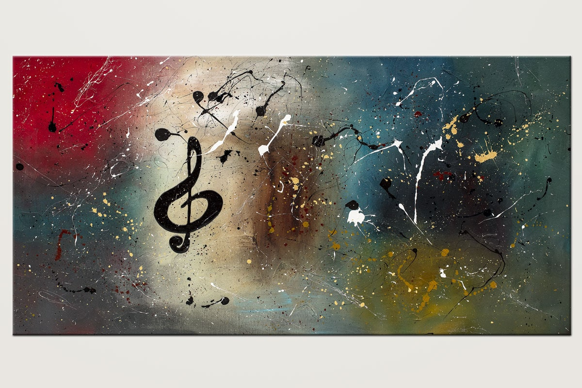 Music Celebration Abstract Art Painting Id80 1