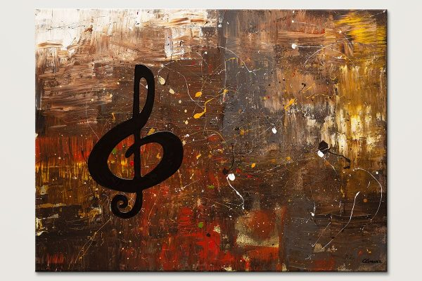 Music For The Soul Abstract Art Painting Id80