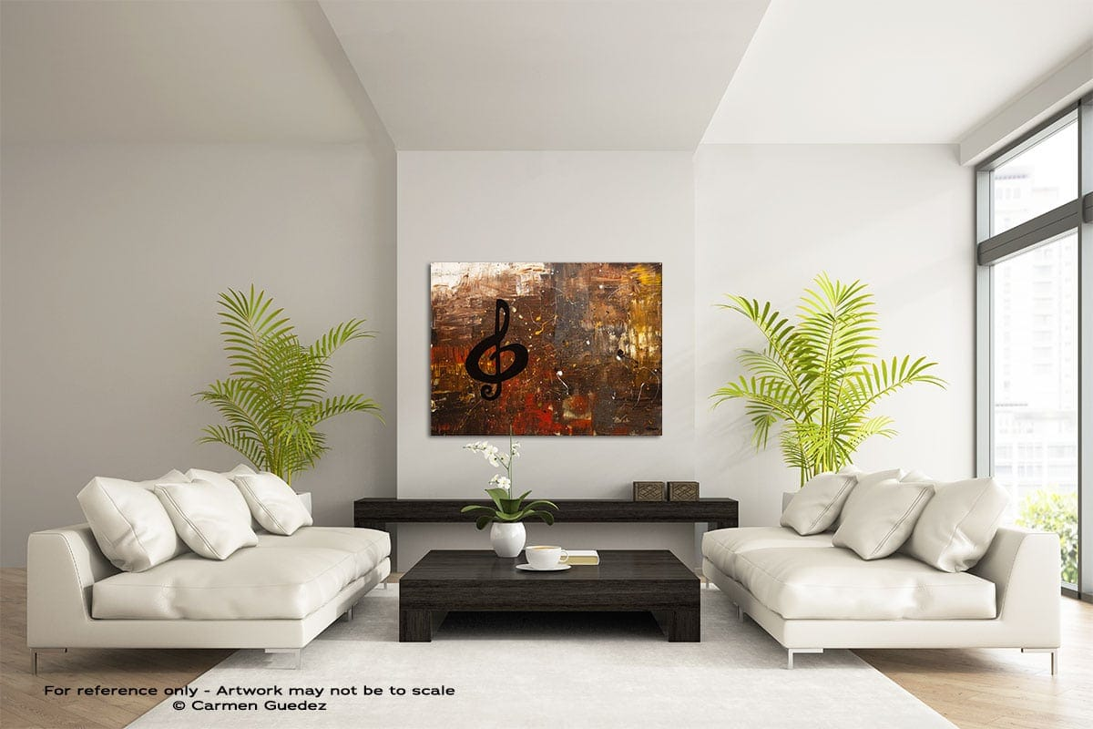 Music For The Soul Large Modern Abstract Art Painting Id49