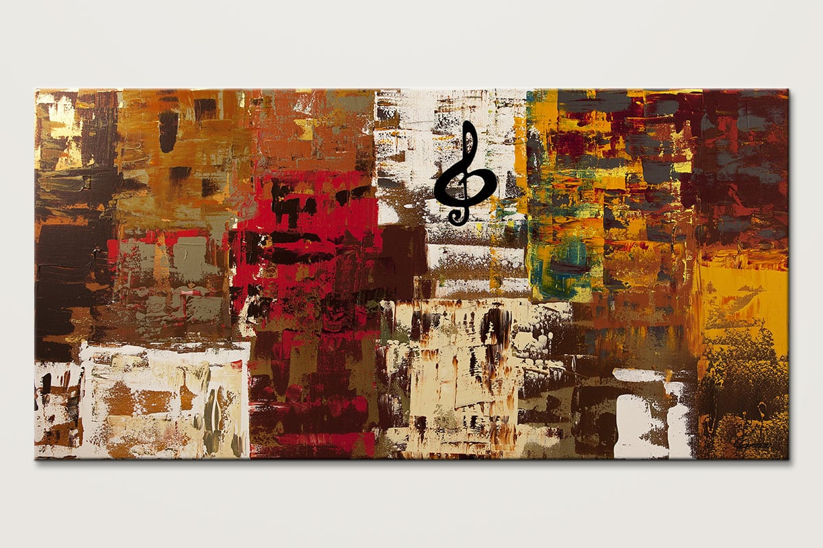 Music World Tour Abstract Art Painting Id80