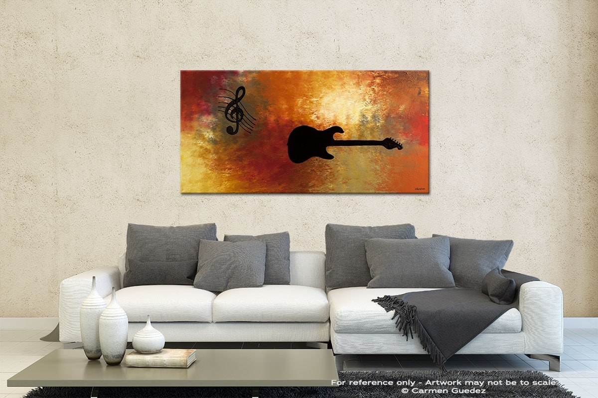 Musique Et Guitare Contemporary Abstract Art Id35