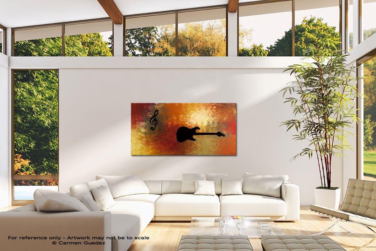 Musique Et Guitare Modern Canvas Abstract Art Id38