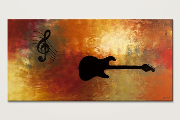 Musique Et Guitare Music Abstract Painting Id80