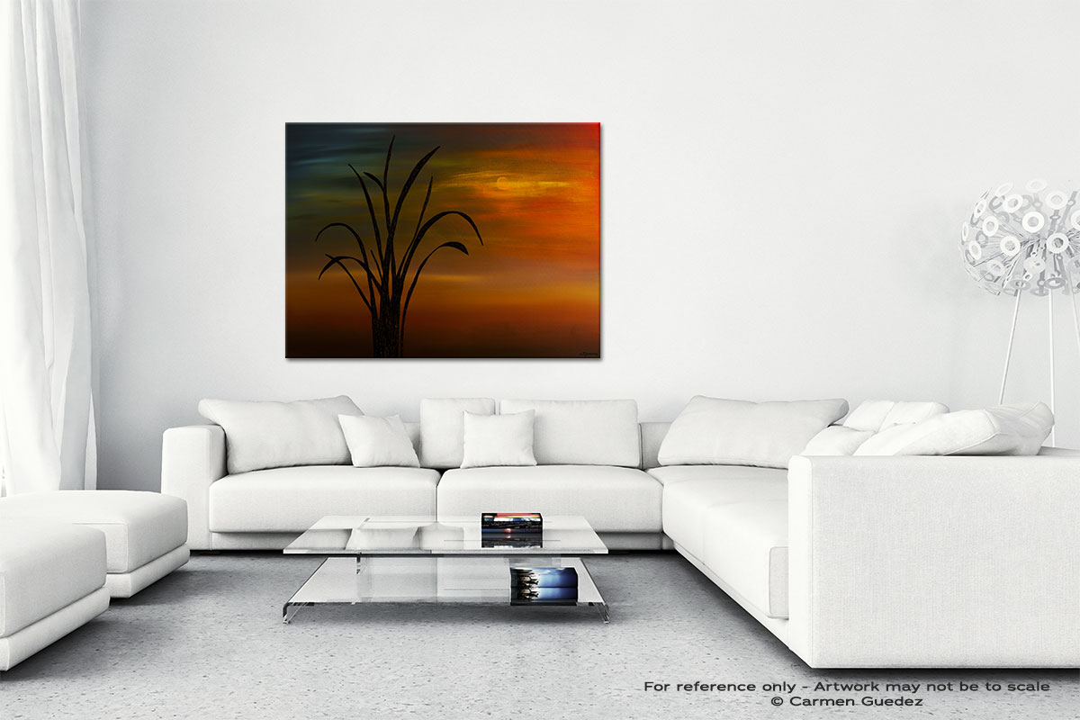My Home Town Canvas Art Abstract Painting Id47