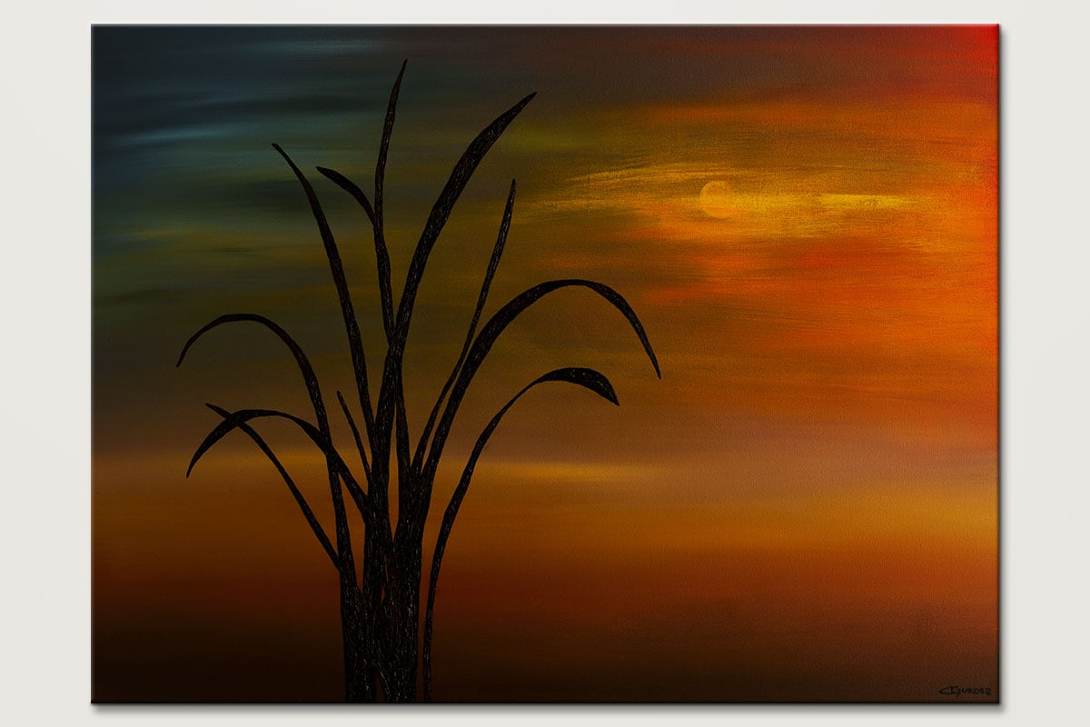 My Home Town Landscape Abstract Art Painting Id80