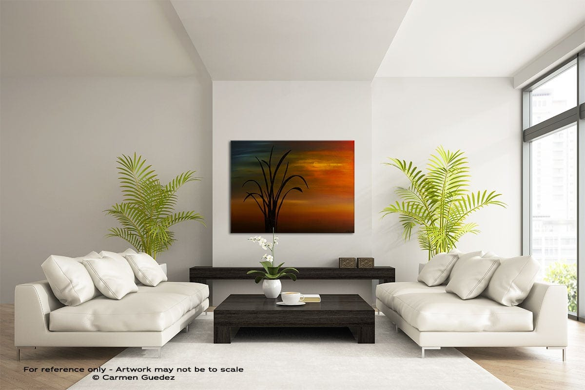 My Home Town Large Modern Abstract Art Painting Id49
