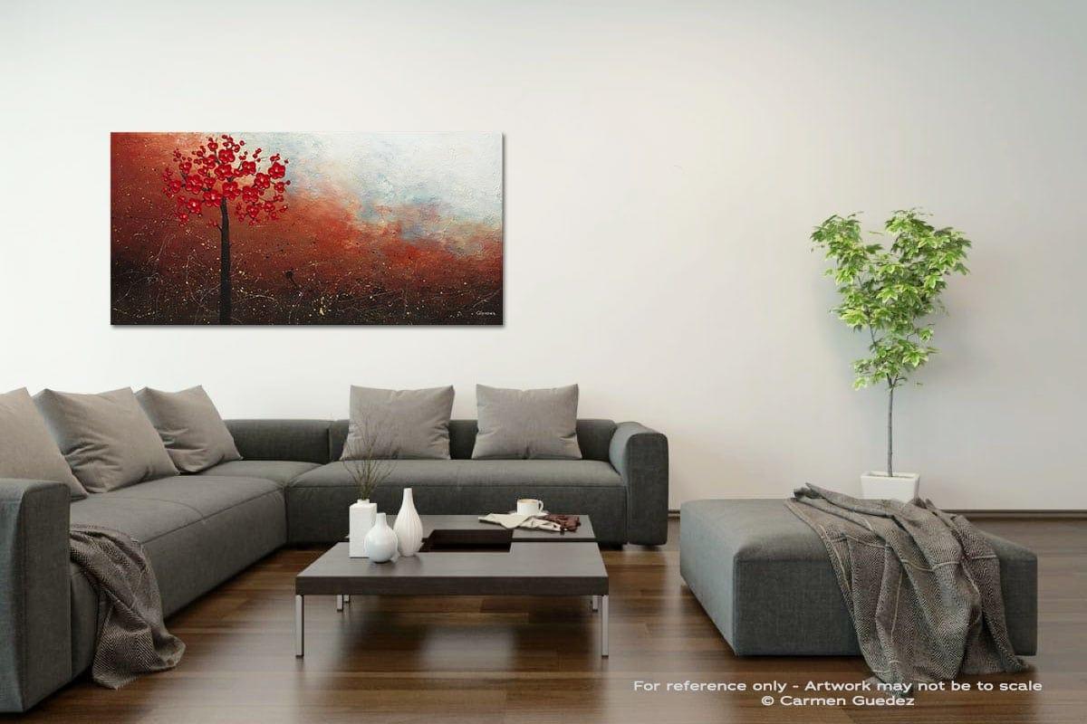 Natural Beauty Acrylic Gray Wall Art Painting Id34