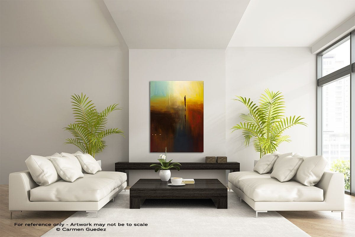 Nature Vertical Abstract Wall Art Painting Id57