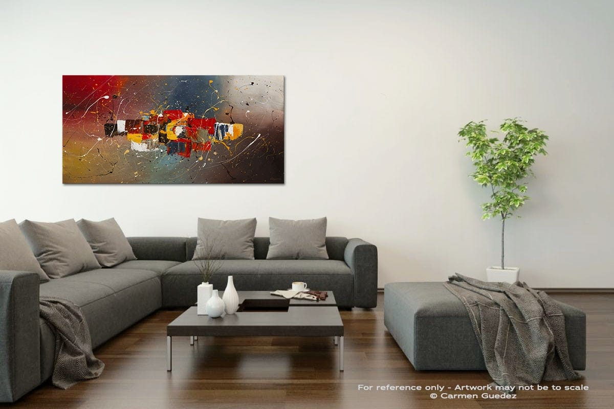 New Frontier Acrylic Gray Wall Art Painting Id34