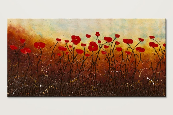 New Life Abounds Large Abstract Flower Art Painting Id80
