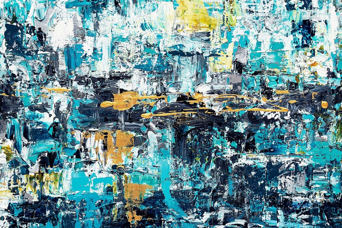 New Possibilities Abstract Art Painting Close Up