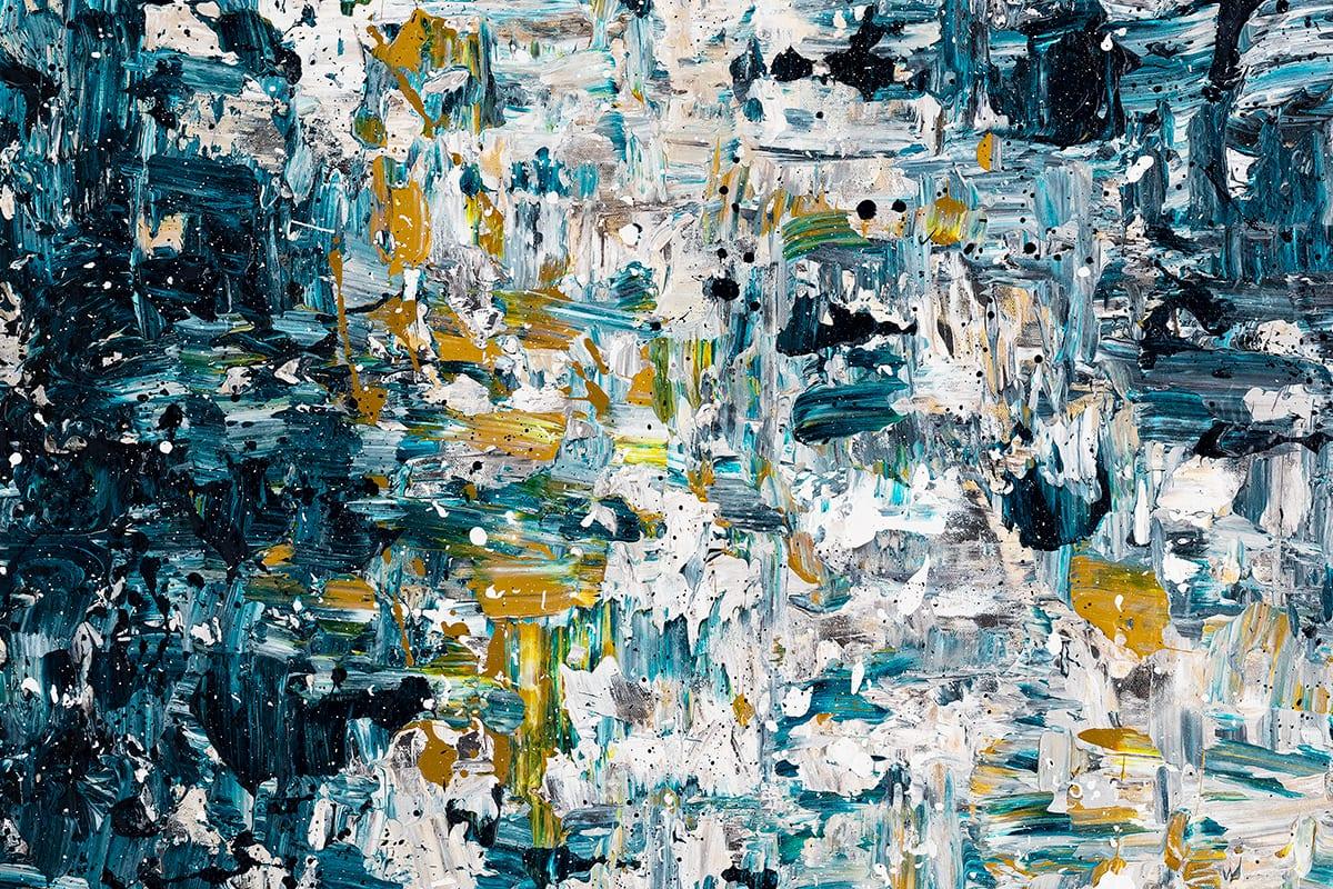 Niagara Falls Abstract Art Painting Close Up