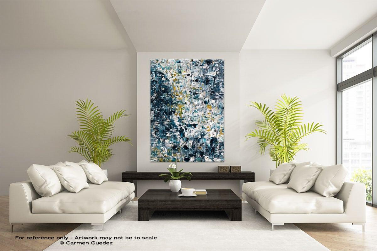 Niagara Falls Abstract Painting Modern Home Id17