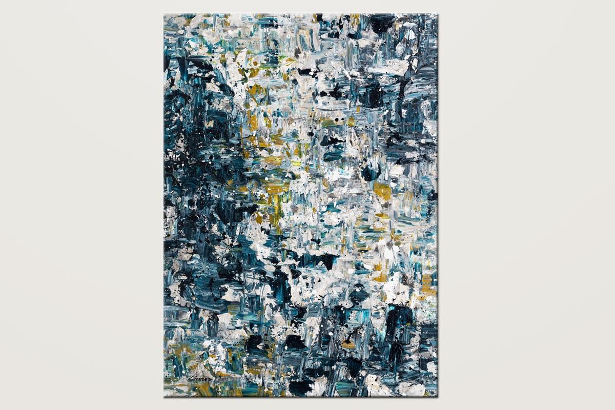 Niagara Falls Blue Abstract Art Canvas Painting