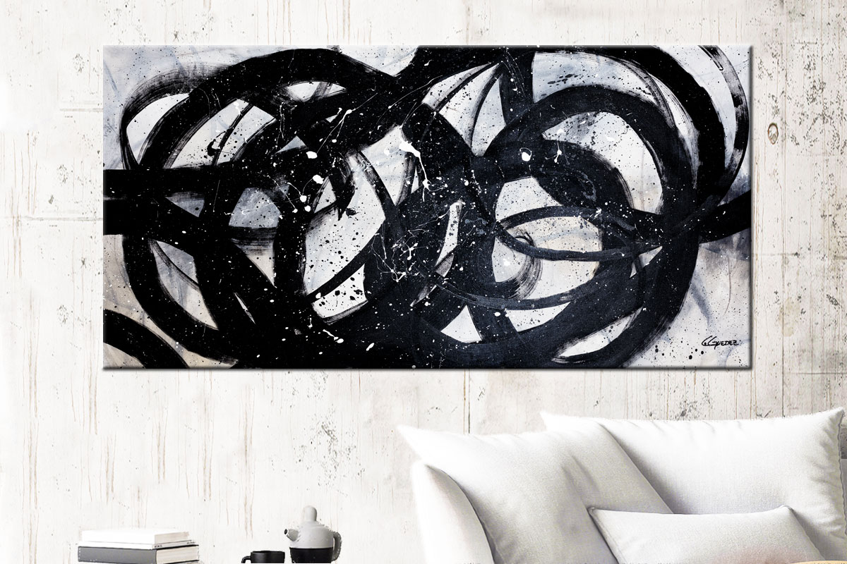 Night Shadow Abstract Art Canvas Painting Id72