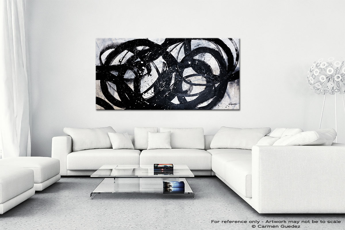 Night Shadow Abstract Wall Art Painting On Canvas Id1