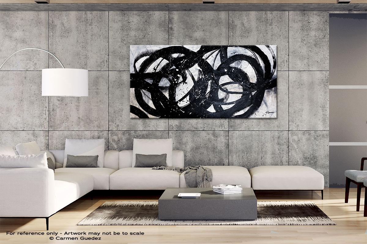 Night Shadow Gray Abstract Wall Art Id4