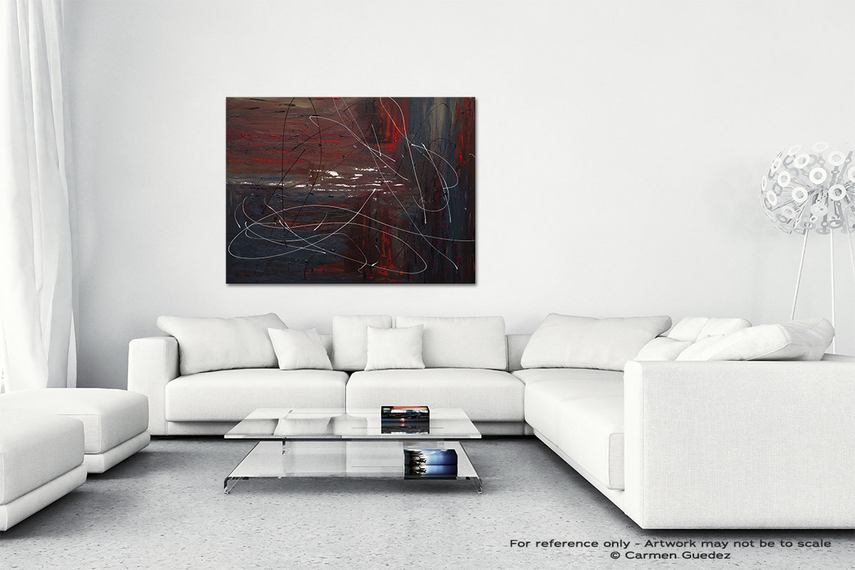 Not So Distant Past Canvas Art Abstract Painting Id47