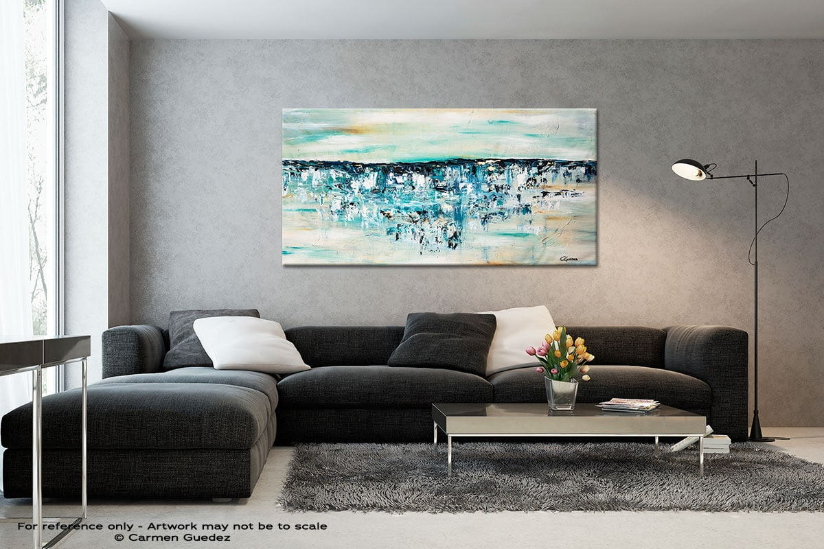 Ocean Adventure Black And White Abstract Art Living Room Id2