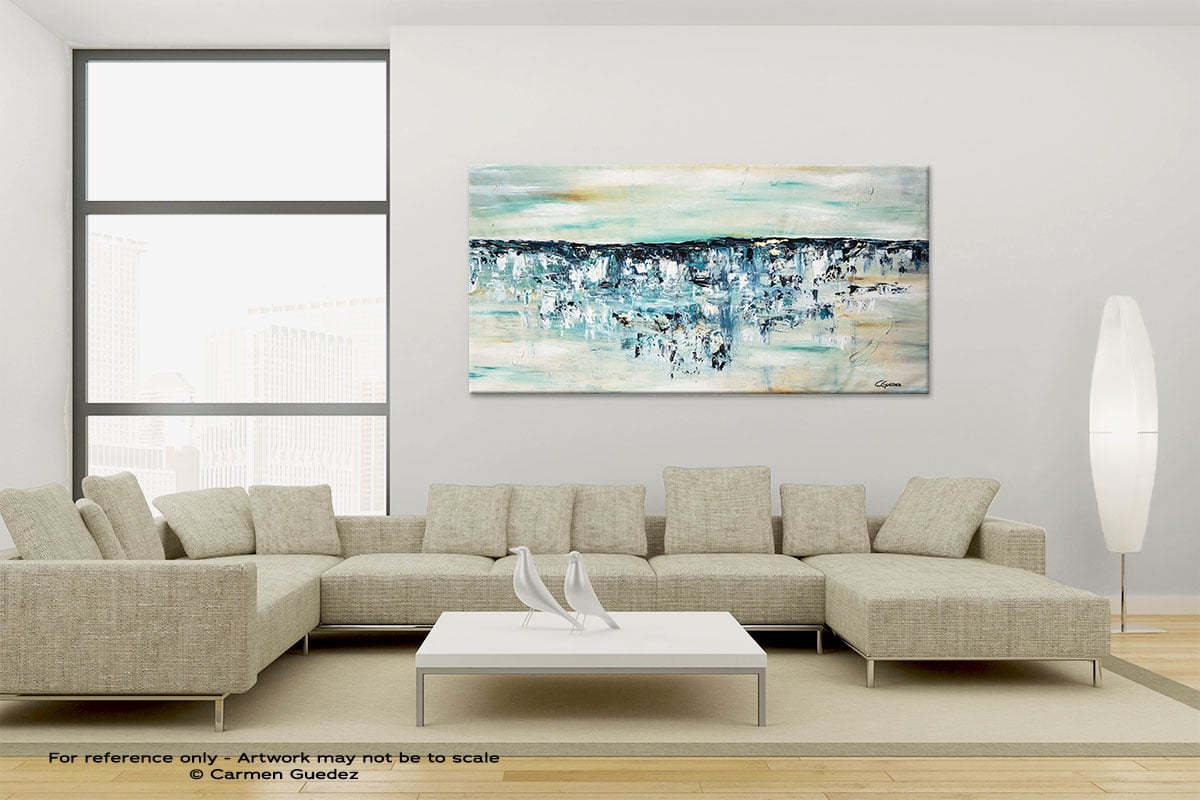Ocean Adventure Large Canvas Abstract Painting Id6