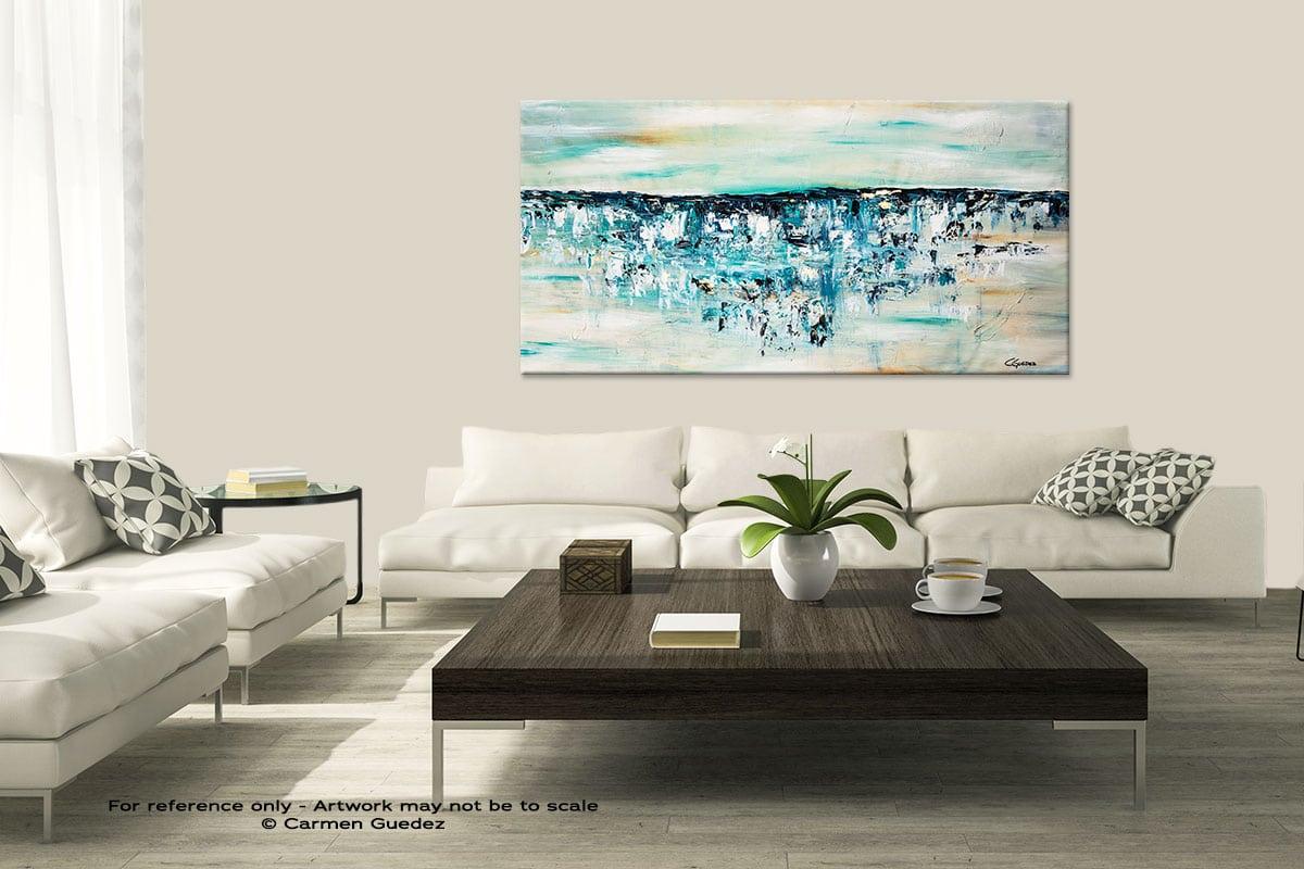 Ocean Adventure Modern Large Abstract Art Painting Id8