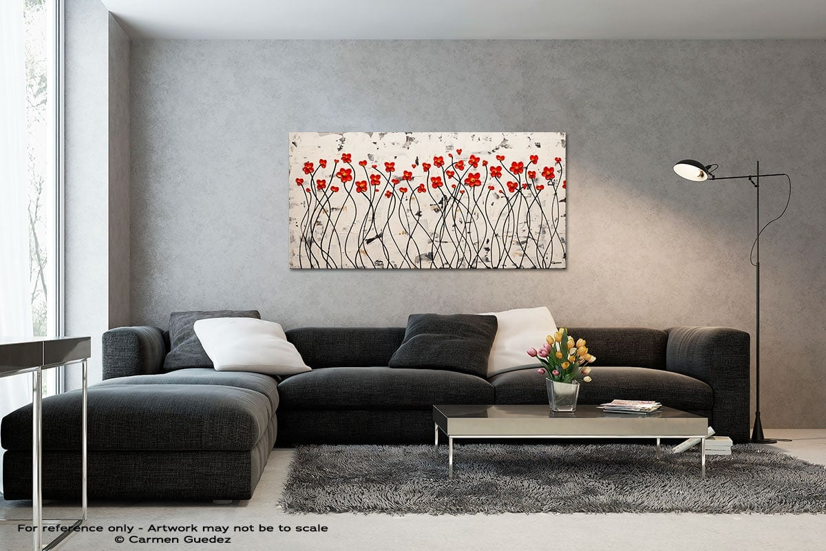 Ode To Summer Black And White Wall Abstract Art Painting Id70