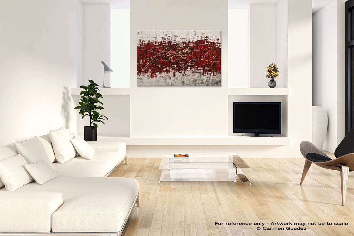 Off Limits Abstract Art Painting Interior Living Room Design Id60