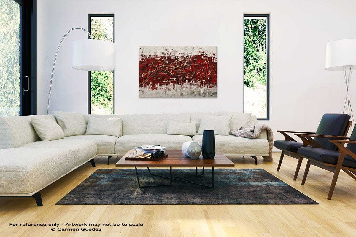Off Limits Abstract Painting Interior Decor Art Id61