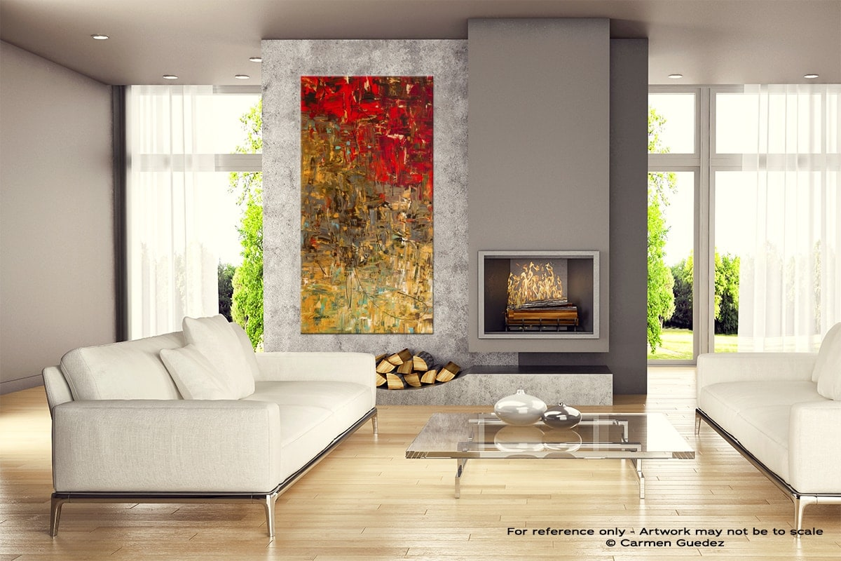 Oh No Oh Si Abstract Canvas Painting Home View Id11