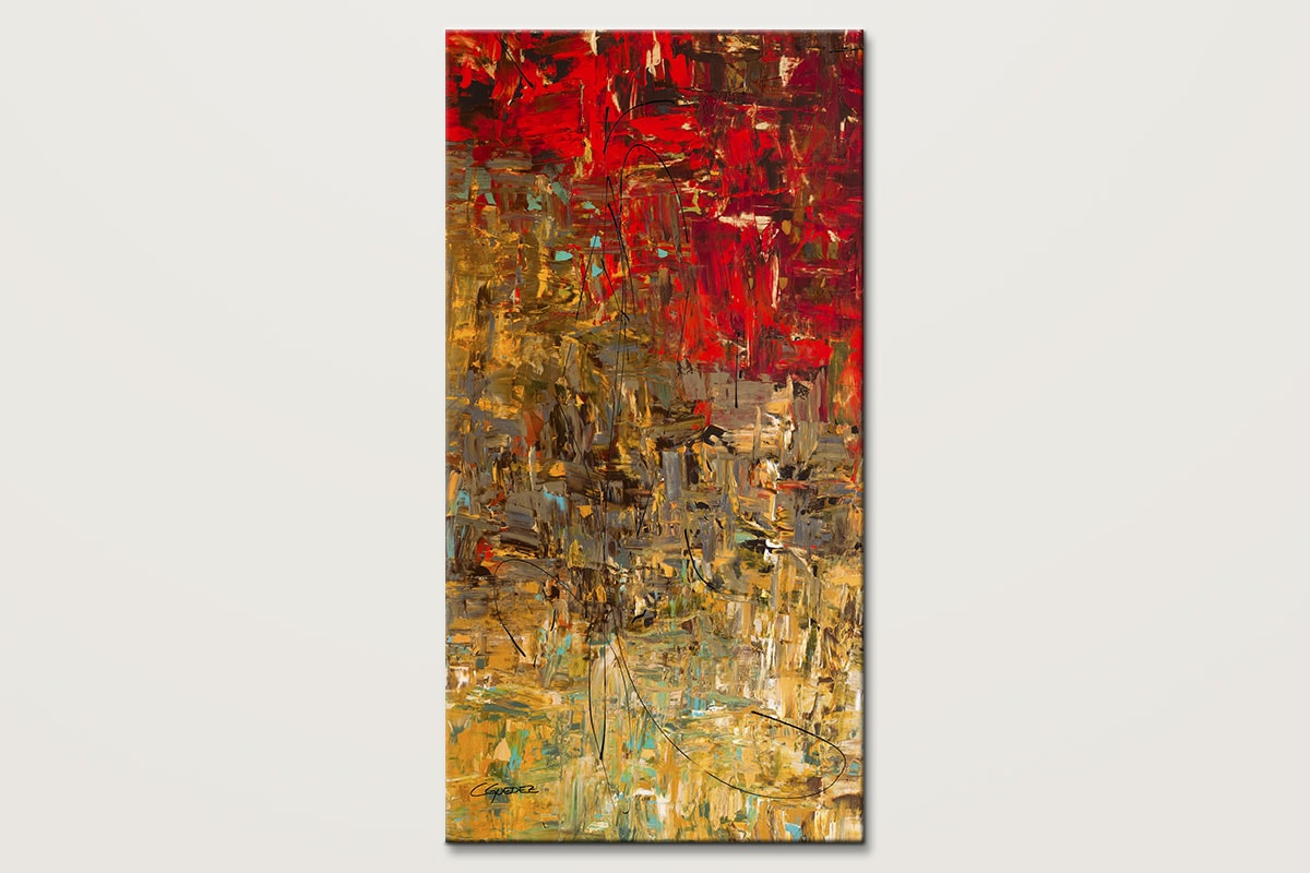Oh No Oh Si Oversized Vertical Abstract Art Id80