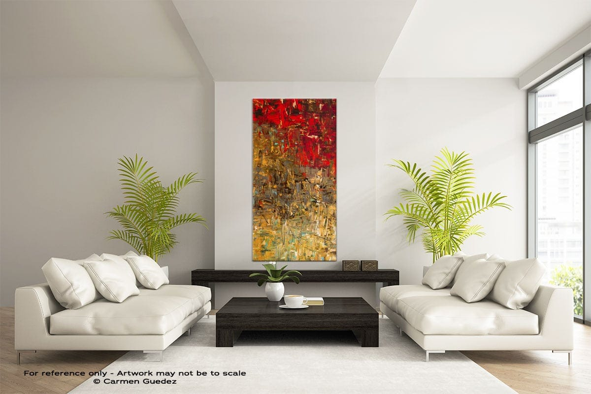 Oh No Oh Si Vertical Large Abstract Painting Id16