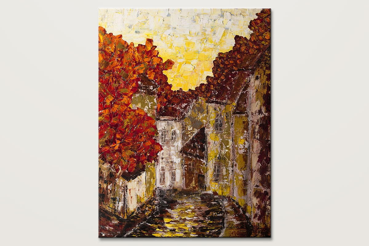 Old Country Impressionist Art Painting Id80